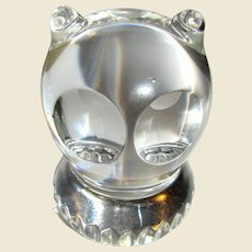 Spode West Germany Lead Crystal Owl Figurine Paperweight
