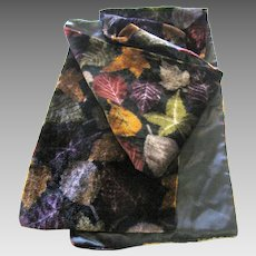 "Rayon Velvet Falling Leaf Oblong 54"" Scarf"