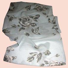 "Italian Rose Design 51"" Long Poly Chiffon Scarf"