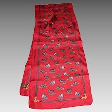 "Red Silk Labrador Retriever 59"" Long Scarf by Alynn"