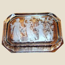Reverse Etched Edwardian Neo Classical Trinket or Pin Tray