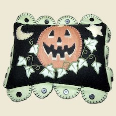 Cute Miniature Halloween Flannel Pillow