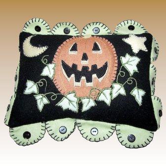 Cute Miniature Halloween Flannel Pillow