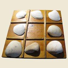 Seashore Tic Tac Toe Handmade Board w/ SC Beach Shells