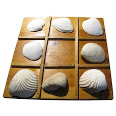 Seashore Tic Tac Toe Handmade Board w/ SC Beach Shells
