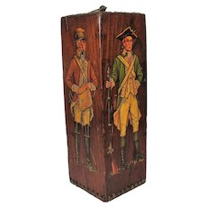 Colonial Soldiers Wood Block Sculpture, Unusual!