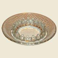 "Vintage Clear Hobnail Bubble Depression Glass Ashtray 6 1/4"" Mint"