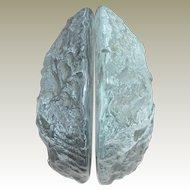 Blenko Ice Block Glass Bookends