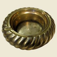 Brass Swirl Ashtray in the Style of Tommaso Barbi