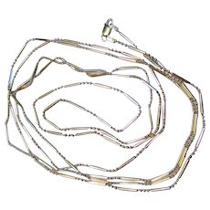 "Italian Sterling 54"" Liquid Silver Necklace (2 available)"