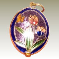 Charming Cloisonne Small Pendant or Charm No 3