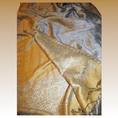 """Elegant Soft 72"""" Golden Wool Pashmina"""