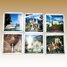 Set of 6 Coasters - Stately Homes / Palaces in Germany