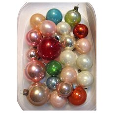 22 Vintage USA Made Glass Ornaments