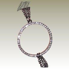 """Daisy Fuentes 32"""" Rhinestone Loop Necklace"""