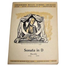 Sonata in D, Haydn Produced Sherwood Music School Courses, Piano (Grade-Intermediate B Composition 410)