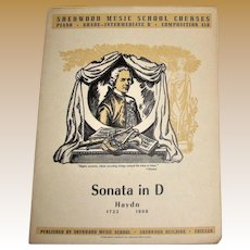 Sonata in D, Haydn Produced Sherwood Music School Courses, Piano (Grade-Intermediate B Composition 410)