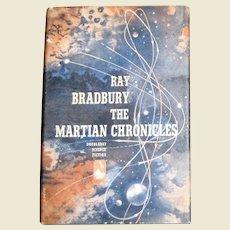 The Martian Chronicles by Ray Bradbury, HCDJ 1950 1st Edition BCE