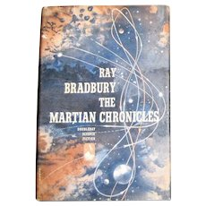 The Martian Chronicles by Ray Bradbury, HCDJ 1950 1st Edition BCE