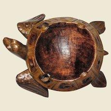 Sea Turtle Trinket Tray, Hand Carved Wood, Nice