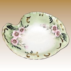 Hand Painted Vanity Tray, Bavaria Germany, Flower Design, Signed by Cecelia Lorz 1968, Mint