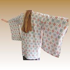 FINAL MARKDOWN Vintage Japanese Haori Silk Crepe Jacket