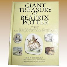 Giant Treasury of Beatrix Potter, Five Stories, 1984 HC, 4-8 Year Old's, Nearly New