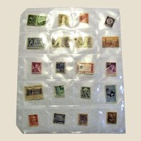 20 Different Used Postage Stamps - Mostly USA Mid-Century!
