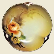 """Noritake Hand Painted 6"""" Bowl, w/ Morimura Red Laurel Backstamp"""