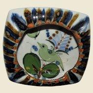 Mexico Art Pottery Hand Painted Ashtray, Mint