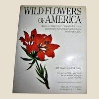 Wild Flowers of America by Rickett, Walcott & Platt, Published by Harrison House 1987 HCDJ, Nearly New