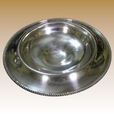 FINAL MARKDOWN Art Deco Plated Copper Footed Centerpiece