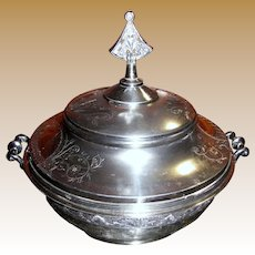 FINAL MARKDOWN Victorian Quadruple Plated Large Tureen by Taunton