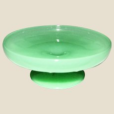Vintage Jadeite Glass Pedestal Serving Bowl / Candy Dish