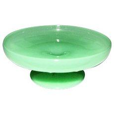 Vintage Jadeite Glass Pedestal Serving Bowl / Candy Dish