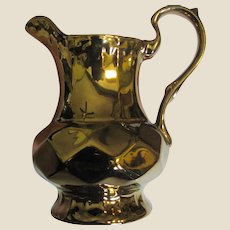 """Art Deco Copper Luster 6"""" Pitcher by Wade of England"""