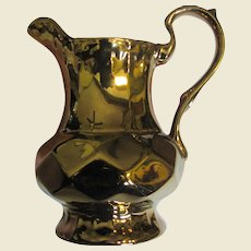 "Art Deco Copper Luster 6"" Pitcher by Wade of England"
