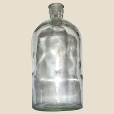 Hand Blown c.1900 Glass Quart Medicine / Chemical Bottle, Mint