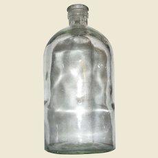 Hand Blown c.1900 Glass Quart Medicine / Chemical Bottle, Mint