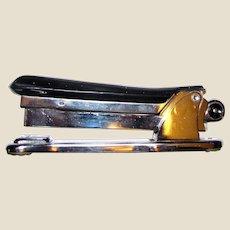 Vintage Bakelite Stapler - Machine Age Steampunk Industrial Ace Liner Model 502, with Space & Stars in Handle, Like New