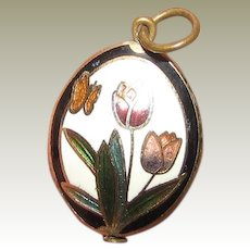 Charming Cloisonne Small Pendant or Charm No 4