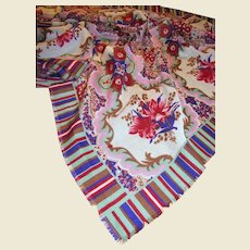 """30"""" Square Floral Scarf, Warm Fabric, Lovely Colors"""