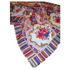 "30"" Square Floral Scarf, Warm Fabric, Lovely Colors"