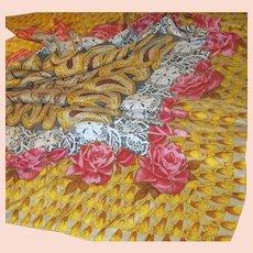 """Huge 40"""" Square Sanded Silk Rose Scarf"""