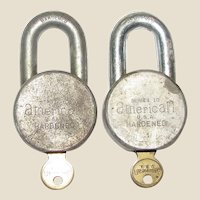 Two Vintage American Lock Co. Series 10 Padlocks, USA, Hardened