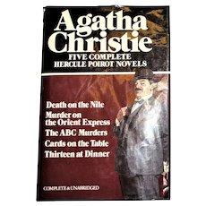 Hercule Poirot: Five Complete Novels by Agatha Christie 1980 HCDJ Avenel Unabridged