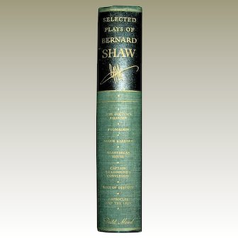 1948 George Bernard Shaw Selected Plays HC: The Doctors Dilemma, Pygmalion, plus 5 others, Near Mint