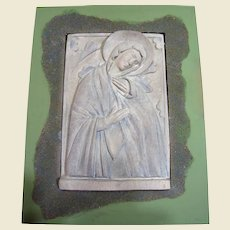Vintage Icon Relief Wall Art of The Madonna