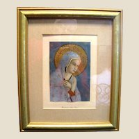 "Beautifully Framed Lithographic Print of ""Madonna della Pace"" (Fra Angelico)"