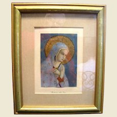 """Beautifully Framed Lithographic Print of """"Madonna della Pace"""" (Fra Angelico)"""